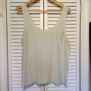Aritzia Wilfred Silk Seafoam Top Size M