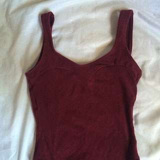 Burgundy Leotard/jumpsuit