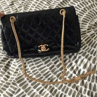 PENDING PICK UP Patent Chanel Styled Bag