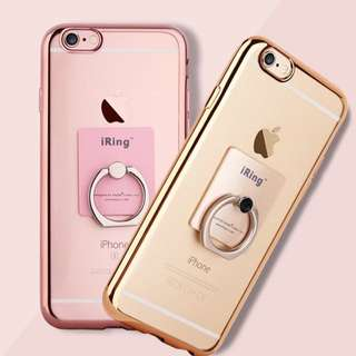 Instock Apple Iphone 7 / 7+ Tpu Casing With Finger Holder