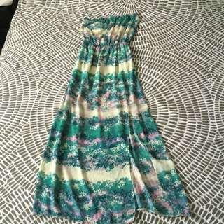Pastel Coloured Maxi Dress.