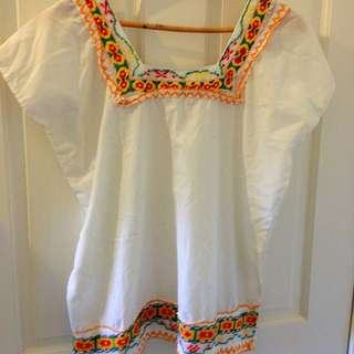 Vintage Handmade Boho Tunic Top