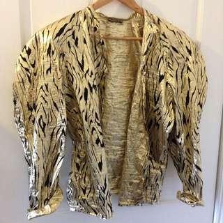 Vintage 80's John Cavill Gold Blouse