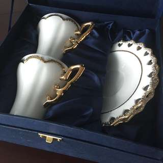 Beautiful Porcelain Set Of Two Cups