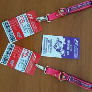 F1 Tickets Friday Pass Connaught Drive Zone 4