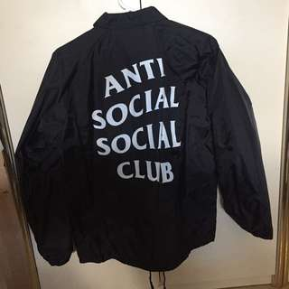 Anti Social Social Club Coach Jacket - Never Gonna Give You Up