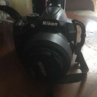 Nikon D3000 with 55-200mm lens