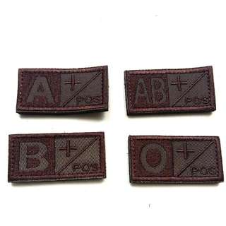 Blood Group Velcro patches