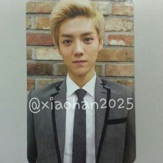 [RESERVED]Official Luhan Growl Ver A Photocard