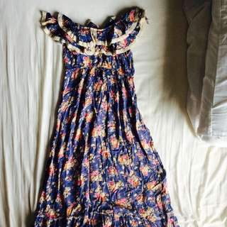 Maxi Off Shoulder Floral Dress