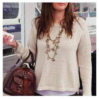 Gold knit jumper