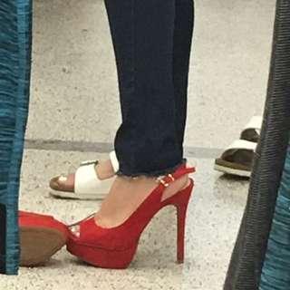 Jessica Simpson Suede Heels 7.5 Size