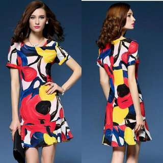 WST 14499 Color Abstract Dress