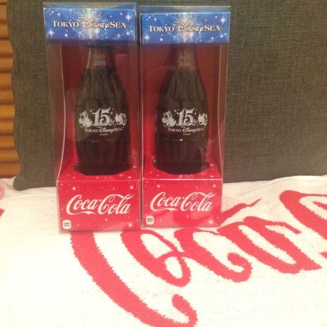 東京海洋迪士尼15週年 可樂紀念瓶