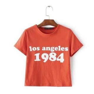 INSTOCK : Los Angeles 1984 Vintage tee < Brandy Melville inspired >