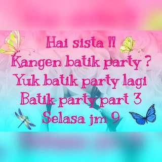 Promo BATIK PARTY