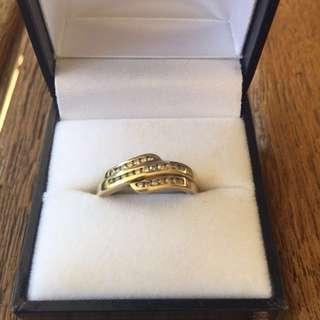 9c Gold Diamond Ring