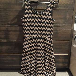 Sass Black And Gold Dress Size 12