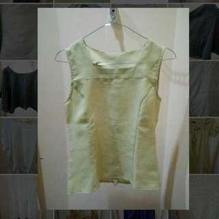 Lime Green Top - Blouse Hijau