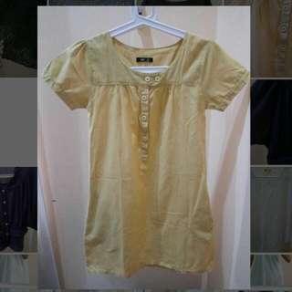 Yellow Mustard Mini Dress - Kuning