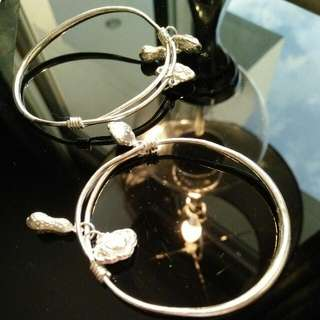 100% Silver Chinese Bangle for kids Php 1,500.00 for two