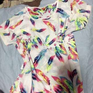 Colourful Feather Shirt