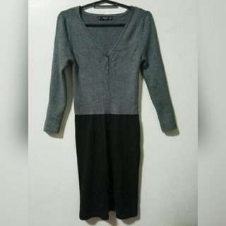 Authentic Mango Casual Fitted Dress