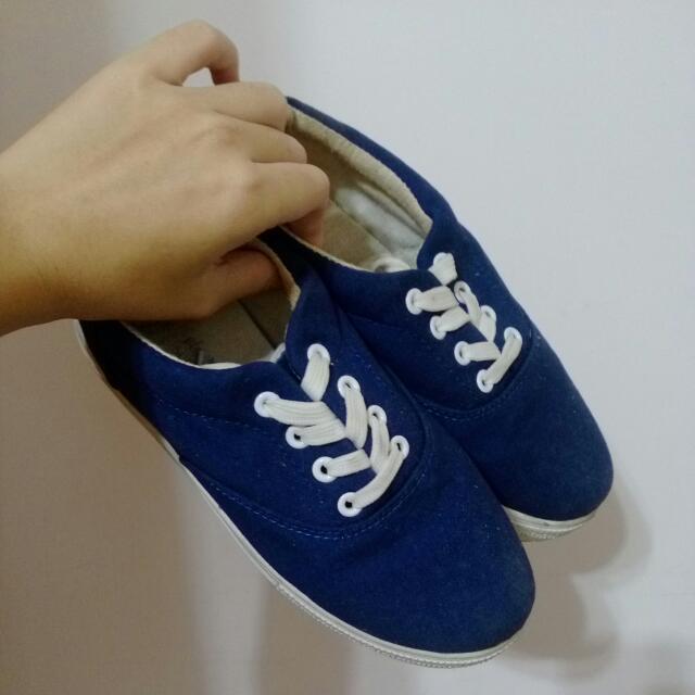厚底鞋/鬆糕鞋/深藍