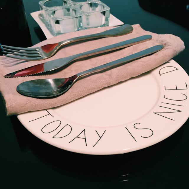 北歐簡約字母餐盤