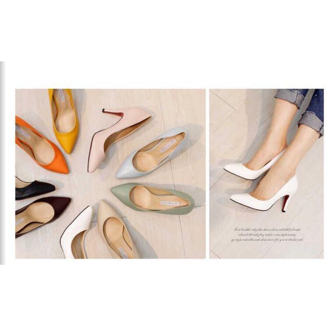 預購// 韓國直送 韓國製造 尖頭高跟鞋