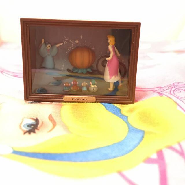 絕版 Yujin 扭蛋 轉蛋 場景 灰姑娘 仙度瑞拉 仙杜瑞拉 南瓜 小老鼠 火柴盒 美術館 印象館 電影場景