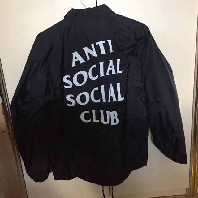 Anti Social Social Club - Coach Jacket - Never Gonna Give You Up