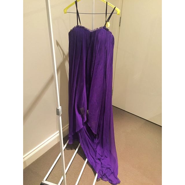 Bariano Purple Formal Dress Size 8