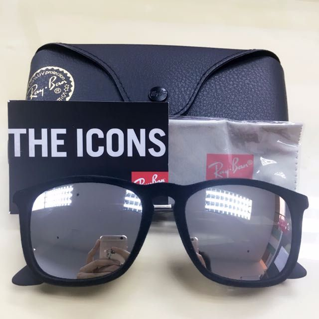 51c5d4562c4319 BNIB Authentic Rayban Chris Velvet RB4187 60756G Sunglasses 54mm, Men s  Fashion, Accessories on Carousell