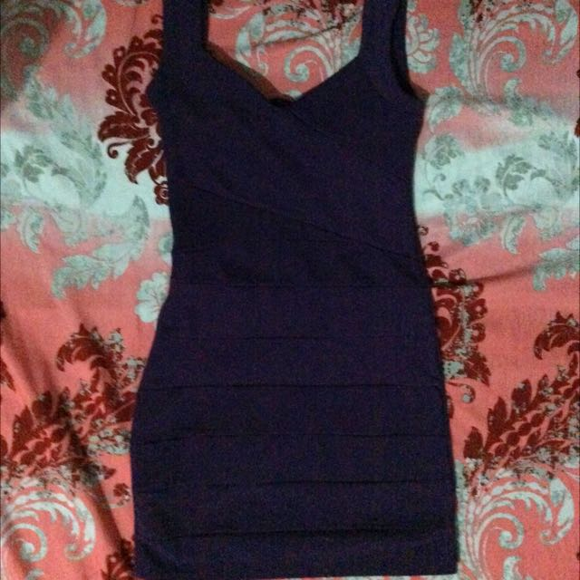 Body Con Violet Dress