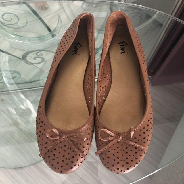Brown Balerina Shoes