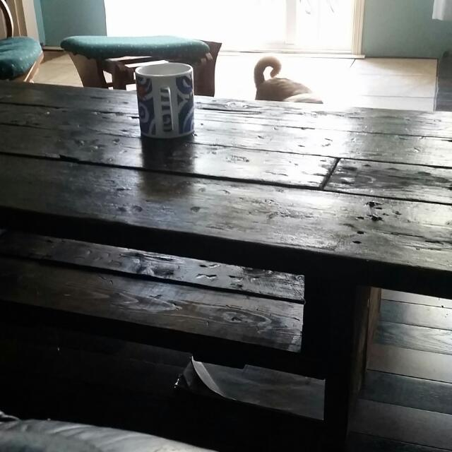Coffee Table Made Of Recycled Wood