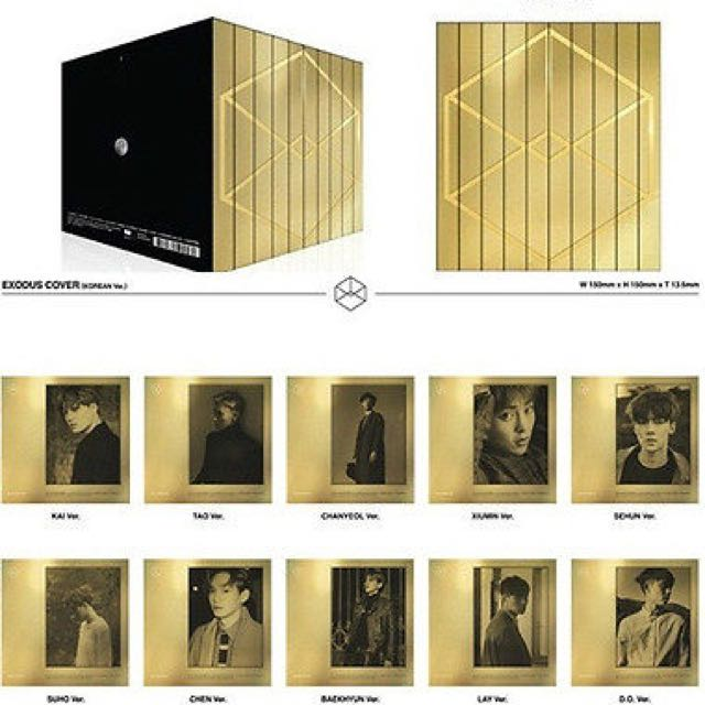 Exo Exodus Chanyeol Gold Korean Ver