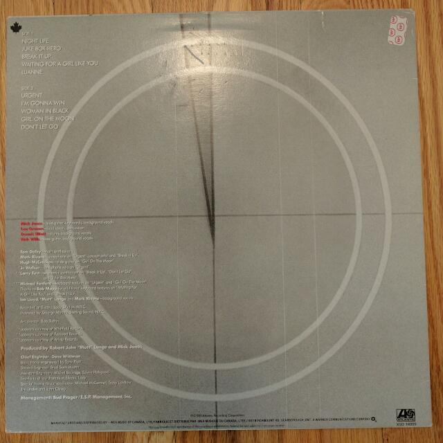 Foreigner Four LP (1981 Release)