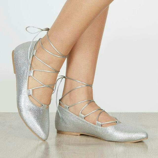 GLITTER LACED SHOES