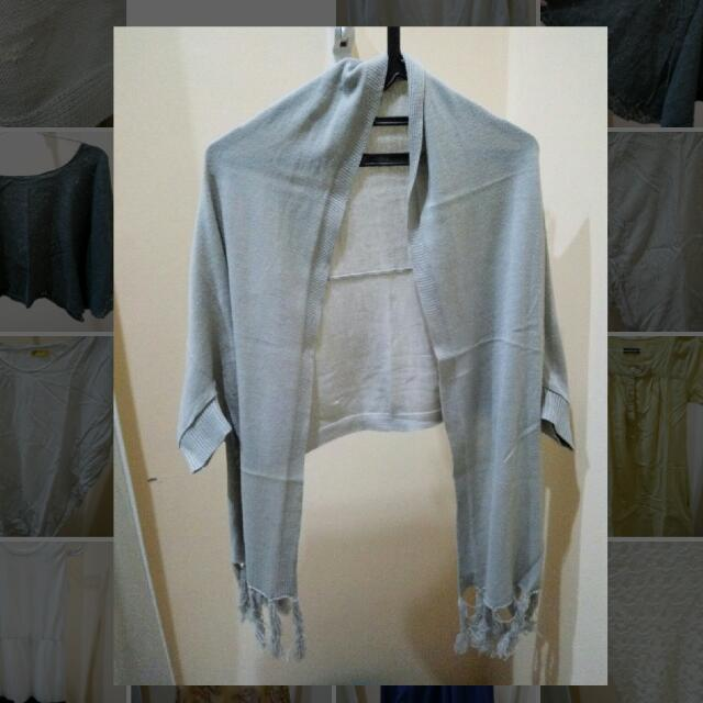 (Preloved) Grey Cardigan Model Pashmina