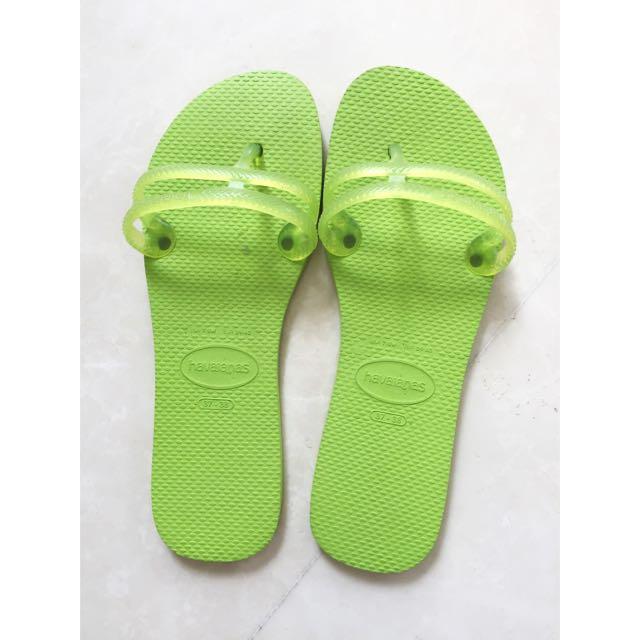 Havaianas - Lime Green Flip Flops
