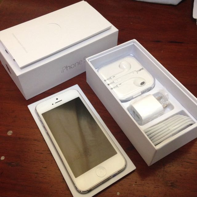 iPhone 5 16GB Silver/White