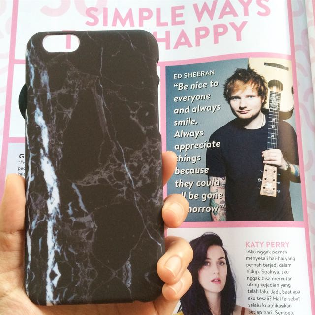 Iphone 6 Black Marble Pattern Hard Case