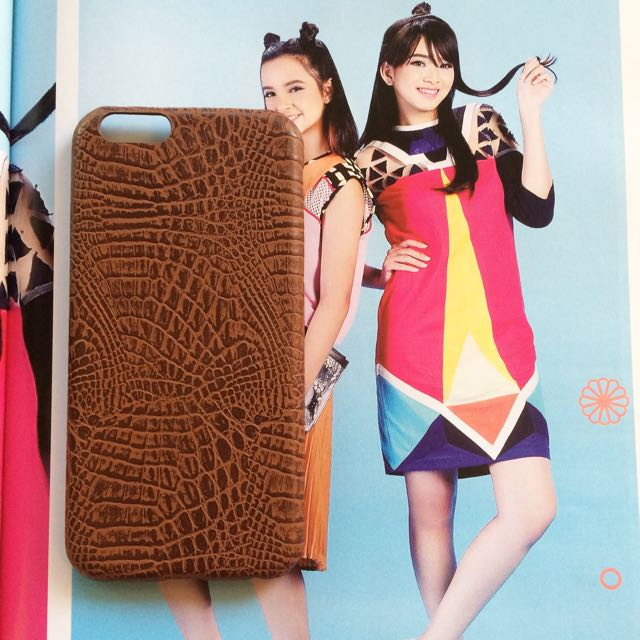 Iphone 6 Brown Crocodile Soft Case