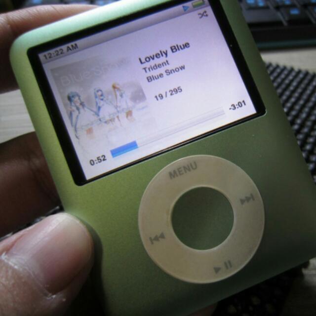 iPod naon 3代 8G 青蘋果綠