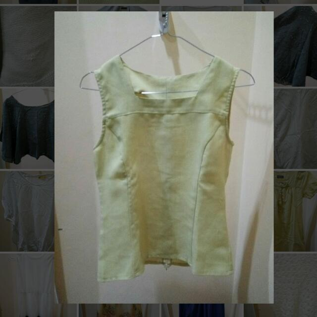 Lime Green Top - Blouse Hijau
