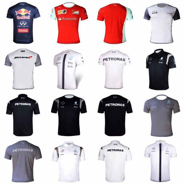 bcab6cef18f Mercedes Redbull Honda Mclaren Amg F1 Polo   T-shirt (Replica ...