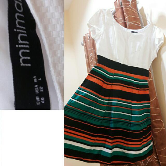 MINIMAL WHITE DRESS SZ L