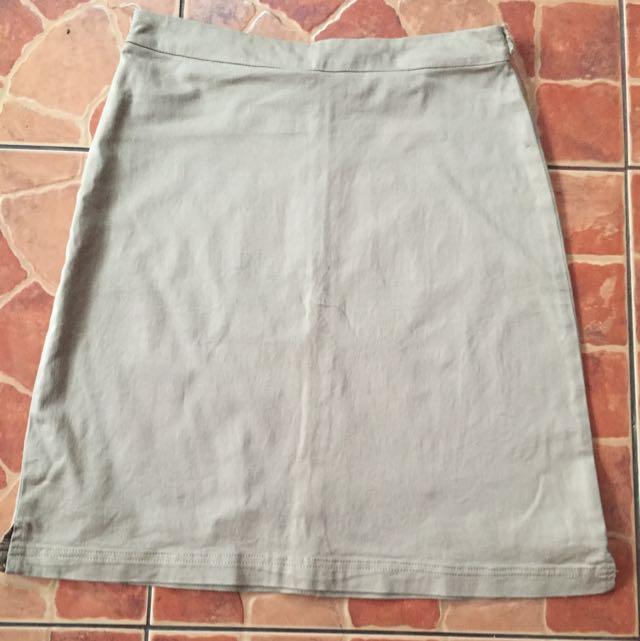 Office Skirt Kaki